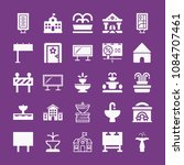 filled buildings icon set such...   Shutterstock .eps vector #1084707461