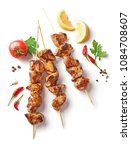 Pork Shish Kebab Isolated On...