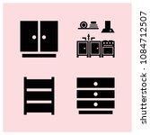 filled furniture icon set such... | Shutterstock .eps vector #1084712507