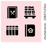 filled book icon set such as... | Shutterstock .eps vector #1084712561