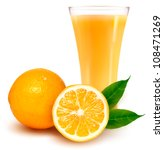 fresh orange and glass with... | Shutterstock .eps vector #108471269