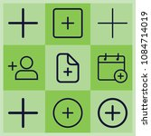 outline plus icon set such as... | Shutterstock .eps vector #1084714019