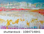 hand drawn acrylic painting.... | Shutterstock . vector #1084714841