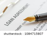 business loan agreement or... | Shutterstock . vector #1084715807