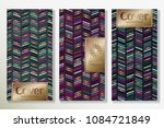 vector set packaging templates... | Shutterstock .eps vector #1084721849