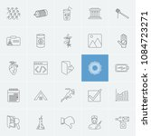 universal icons set with social ...
