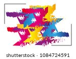 multicolored abstraction.... | Shutterstock .eps vector #1084724591