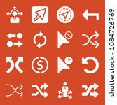 filled set of 16 arrows icons...   Shutterstock .eps vector #1084726769