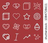 outline set of 16 shapes icons... | Shutterstock .eps vector #1084728611