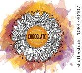 chocolate vector doodle... | Shutterstock .eps vector #1084740407