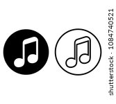 vector music note  isolated on...