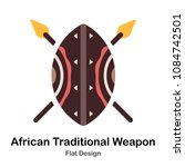 African Shield And Spears Flat...