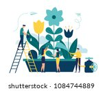 vector illustration of spring... | Shutterstock .eps vector #1084744889