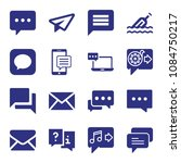 set of 16 message filled icons... | Shutterstock .eps vector #1084750217