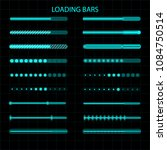 a loading bar. a set of led ... | Shutterstock .eps vector #1084750514