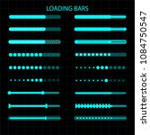 a loading bar. a set of... | Shutterstock . vector #1084750547