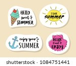 collection of summer icon with... | Shutterstock .eps vector #1084751441