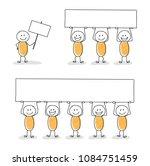 collection of business stickmen.... | Shutterstock .eps vector #1084751459