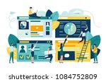 flat vector illustration  web... | Shutterstock .eps vector #1084752809