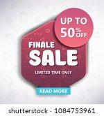 sale banner design. vector... | Shutterstock .eps vector #1084753961