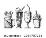 vector hand drawn illustration... | Shutterstock .eps vector #1084757285