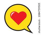 red heart in a speech bubble ...   Shutterstock .eps vector #1084759505