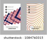 abstract business brochure...   Shutterstock .eps vector #1084760315