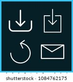set of 4 download outline icons ...   Shutterstock .eps vector #1084762175