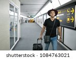 man in a crimson hat with a...   Shutterstock . vector #1084763021