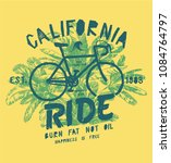 california bicycle ride  ... | Shutterstock .eps vector #1084764797