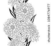 floral seamless pattern. flower ... | Shutterstock .eps vector #1084776977