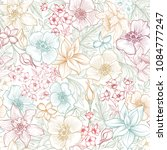 floral seamless pattern. flower ... | Shutterstock .eps vector #1084777247