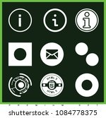 set of 9 circle filled icons... | Shutterstock .eps vector #1084778375