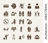 set of 25 people filled icons... | Shutterstock .eps vector #1084778441
