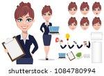businesswoman cartoon character ... | Shutterstock .eps vector #1084780994