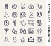 set of 25 fashion outline icons ... | Shutterstock .eps vector #1084781201
