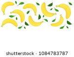 whole bananas with leaves... | Shutterstock . vector #1084783787