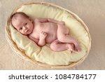 newborn one month baby in... | Shutterstock . vector #1084784177