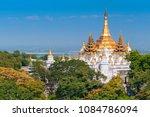 golden pagodas is on sagaing... | Shutterstock . vector #1084786094