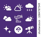 set of 9 sky filled icons such... | Shutterstock .eps vector #1084787549