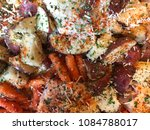 raw chicken thighs carrots and... | Shutterstock . vector #1084788017