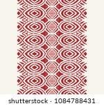 ikat seamless pattern. vector... | Shutterstock .eps vector #1084788431