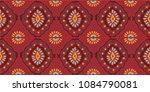 ikat geometric folklore... | Shutterstock .eps vector #1084790081