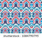 ikat seamless pattern. vector... | Shutterstock .eps vector #1084790795
