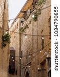 ancient arabic city street.... | Shutterstock . vector #1084790855