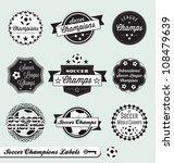 vector set  vintage soccer... | Shutterstock .eps vector #108479639