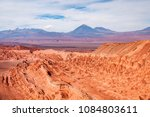 unique landscape resembles moon ... | Shutterstock . vector #1084803611