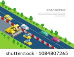 road repair and construction... | Shutterstock .eps vector #1084807265