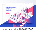 cryptocurrency and blockchain... | Shutterstock .eps vector #1084812365