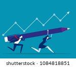 growth. business team to... | Shutterstock .eps vector #1084818851
